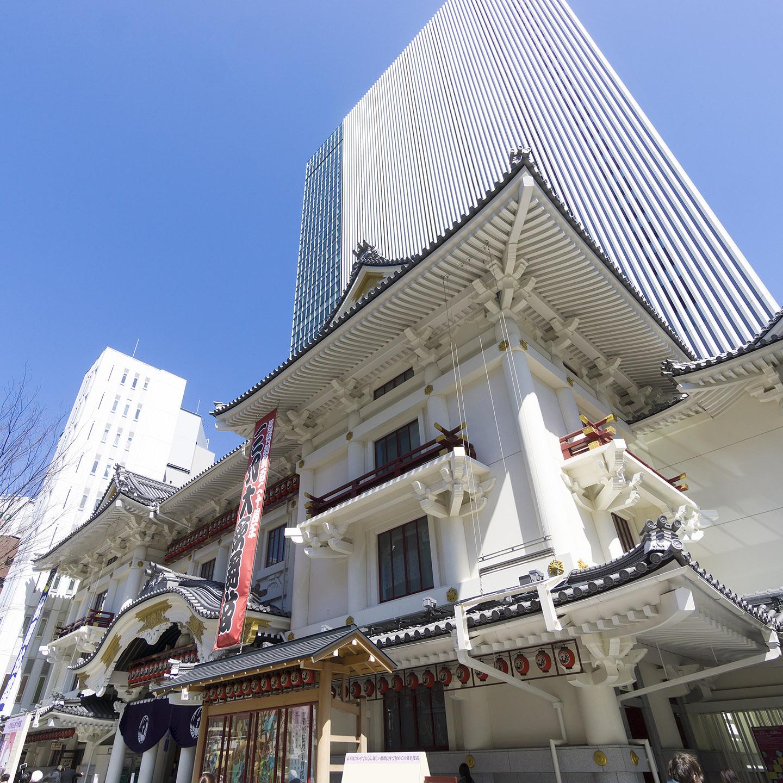 歌舞伎座 快晴 青空